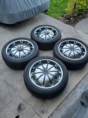 (4) 22 inch wheels rims 6x5.5 6x139.7 6x135 285/45r22 tires Ford Chevy GMC Nissan Escalade Lincoln F150 1500 Navigator Silverado Tahoe for Sale in Port St. Lucie, FL