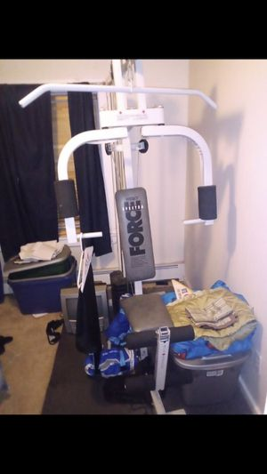 Home gym set good use for Sale in New Haven, CT