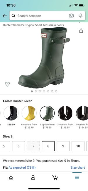 Hunter boots brand new-never worn for Sale in Fort Myers, FL