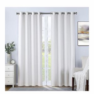 """New White Total Blackout Grommet Curtain Panels 52""""x108"""" for Sale in Wimauma, FL"""