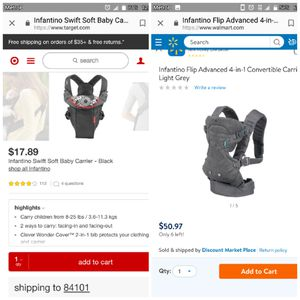 2 baby carriers for Sale in Salt Lake City, UT