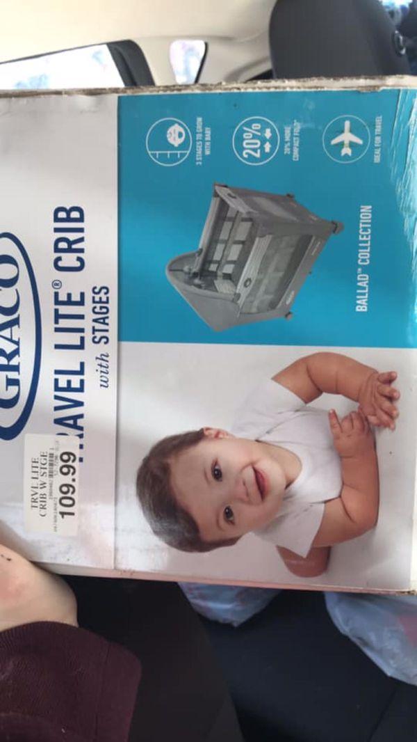 Baby crib and swing
