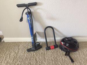 U lock, Helmet, Bicycle pump. for Sale in Houston, TX