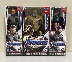 Marvel Avengers Titan Hero Series Thor, Thanos and Captain America Figures for Sale in Pompano Beach, FL