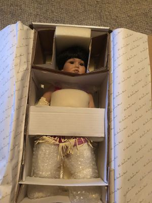 Native American Porcelain Doll From The Danbury Mint for Sale in Canyon, TX