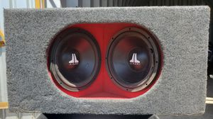 """JL Audio Ported H.O. Wedge enclosure duel 12"""" W3 subwoofer for Sale in Chico, CA"""