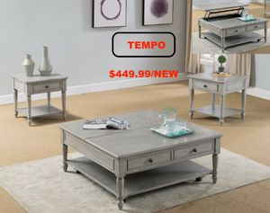 2 PC Cocktail and End Table, Grey for Sale in Westminster, CA
