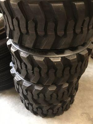 4x bobcat skid steer tire 12-16.5 $530. 4x 10-16.5 $430 no bargain price firm. No reply if you bargain for Sale in San Bernardino, CA