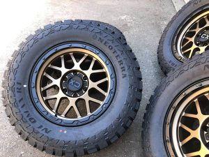 "18"" KMC Offroad Rims 33"" R/T Tires Chevy Silverado GMC Sierra Wheels for Sale in Sacramento, CA"