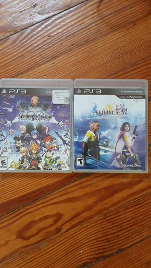 Kingdom Hearts 2.5 and Final Fantasy 10 Remastered for Sale in New Haven, CT