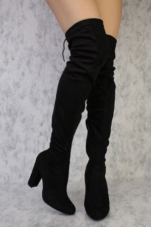 Black suede knee high boots 👢size 8 for Sale in Westminster, CA