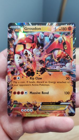 Holographic Groudon ex card for Sale in UPPER ARLNGTN, OH