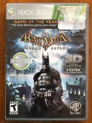 Batman Arkham Asylum- Game of the Year Edition XBOX 360 for Sale in Fresno, CA