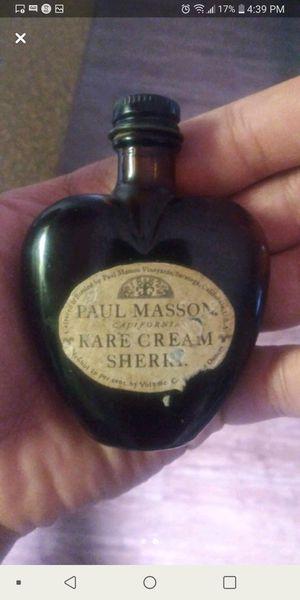 Antique Paul Masson bottle of rare cream sherry. for Sale in Dallas, TX