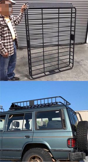 Brand New in box XXL large 64x45x7 inches tall roof travel cargo carrier storage rack for suv car truck for Sale in Pico Rivera, CA