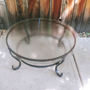 Sweet Metal/Glass Patio Table, Porch Table Balcony Table. Very BOHO. LOW TO GROUND! READ MEASUREMENTS PLEASE for Sale in Denver, CO