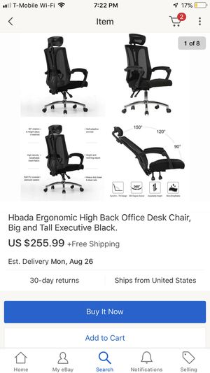 Ergonomic High Back Office Desk Chair, Big and Tall for Sale in Montclair, CA