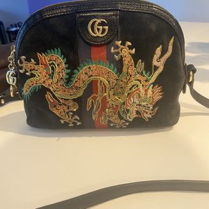 Authentic Gucci Ophidia Dragon Blue Suede Bag for Sale in Hollywood, FL