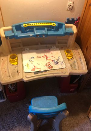 Kids art desk with chair for Sale in Sunnyvale, CA