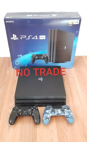 PS4 PRO + 2 Controllers, FIRM PRICE, GREAT CONDITION for Sale in Garden Grove, CA