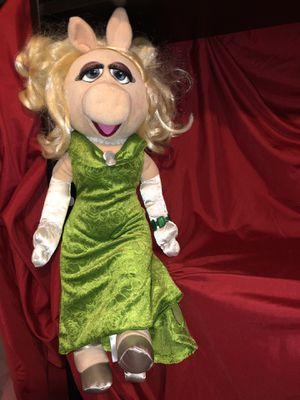 "Disney Store Miss Piggy green formal dress plush doll - giant 19"" tall!! The muppets jim Henson for Sale in Phoenix, AZ"