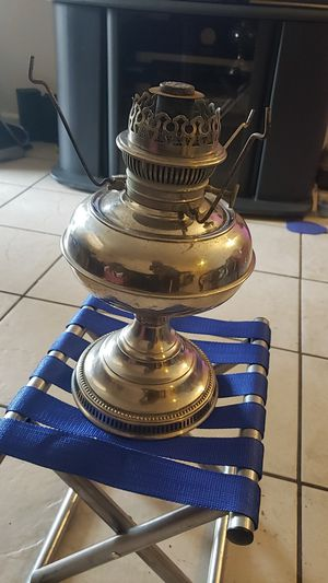 Antique silver oil lamp mint for Sale in Thonotosassa, FL