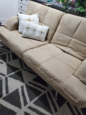 Tan like new futon for Sale in Denver, CO