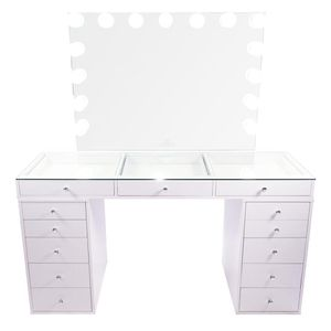 MAKEUP VANITY SLAYSTATIONS WITH DIMMABLE LIGHTS for Sale in Chino, CA