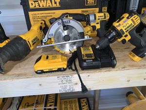 Dewalt circular saw saw Zaw impact driver drill driver 1 battery and charger not negotiable gently used for Sale in Plant City, FL