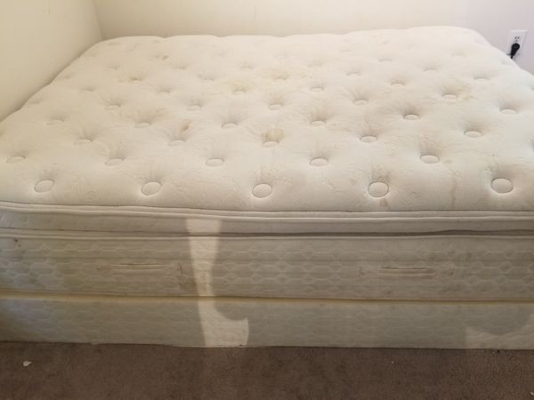 Queen bed and boxspring
