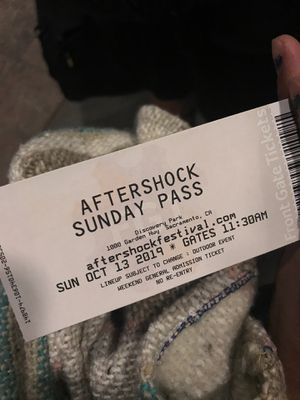 After shock !!! Oct 13. Sunday ticket for Sale in Sacramento, CA
