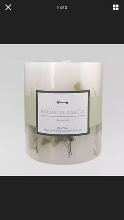 NEW Pack Of FOUR threshold Botanical Candle Unscented Wax Pillar Candle 4.5 Inches By 4 Inches for Sale in Westerville,  OH