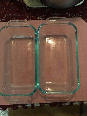 2- Glass Pyrex Bread Pans for Sale in Commerce City, CO