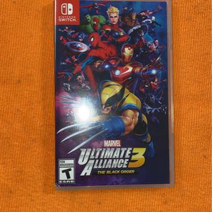Marvel Ultimate Alliance 3 The Black Order For The Nintendo Switch Case And Game for Sale in Miami, FL