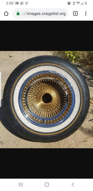 15x7 gold Daytons on vogue's for Sale in Apple Valley, CA