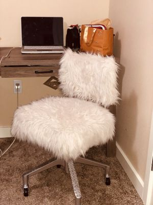 Faux fur desk chair for Sale in Waynesville, MO