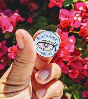 BLACK LIKE MY HEART ENAMEL PIN 💖💖💖 for Sale in Wilmington, CA
