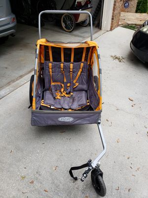 InStep Sierra Kids Double Seat Foldable Tow Behind Bike Trailers, Converts to Stroller/Jogger for Sale in Decatur, GA
