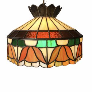 Beautiful Vintage Tiffany Style Stained Glass Hanging Shade & Lamp for Sale in Ashland City, TN