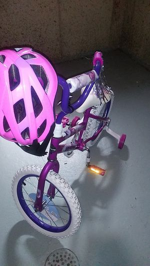 Girls bike with Helmet for Sale in Florissant, MO