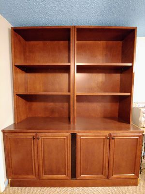 Wooden Office Wall Cabinet and Library for Sale in Wheat Ridge, CO