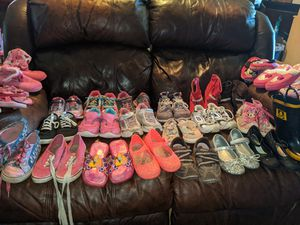 Lot of 26 pairs of girls shoes size 11 Some Name Brand for Sale in Greenbrier, TN