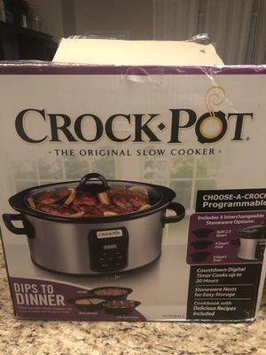 NEW Crock pot 3 piece interchangeable for Sale in Richmond, TX