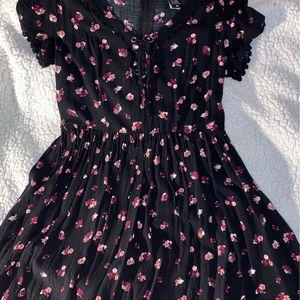 Black Floral Knee-Length Dress for Sale in Stafford, VA