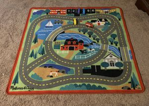 Kids Round the Town Road Rug & Car Set (Melissa & Doug) for Sale in Lake Stevens, WA