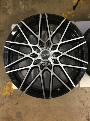 "Brand New 17"" Inch Diablo D17 Black Machined Face 17X7 Wheels Rims Rines 5X108 5X4.25 5X114.3 5X4.5 for Sale in Austin, TX"