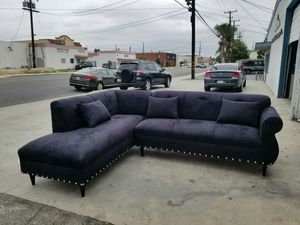 NEW 7X9FT BLACK MICROFIBER SECTIONAL COUCHES for Sale in La Mesa, CA