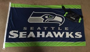 Seattle Seahawks flag and hand warmer/Fanny pack for Sale in Elma, WA