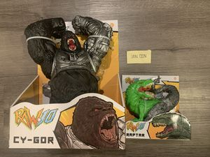 Todd McFarlane Raw10 Cy-Gor & Raptar action figure bundle. Walmart exclusive. Free posters for Sale in Brentwood, CA