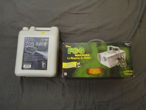 Fog machine and fog juice for Sale in Cary, NC